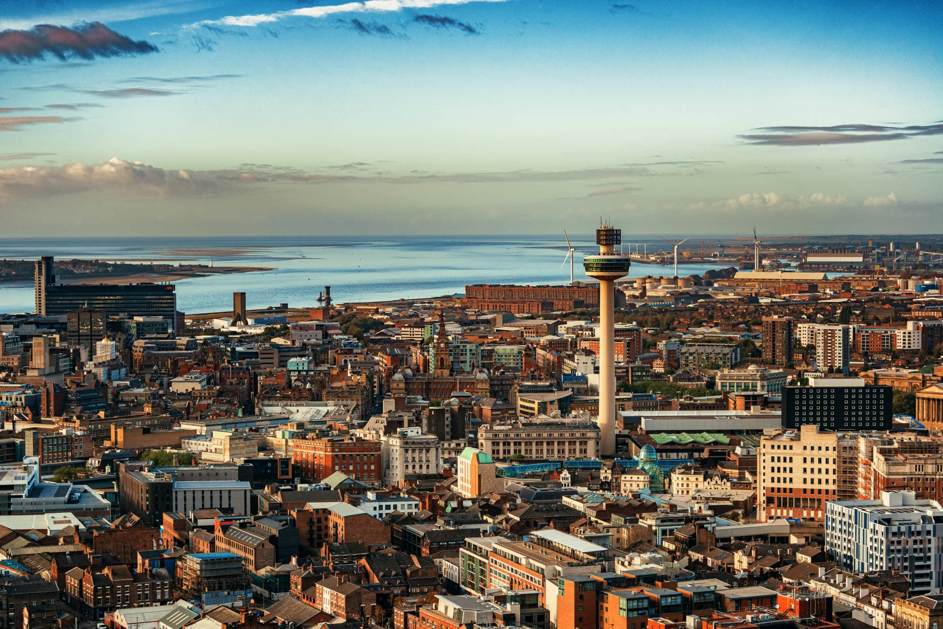 Liverpool-skyline-rooftop-view-with-buildings-in-England-in-United-Kingdom