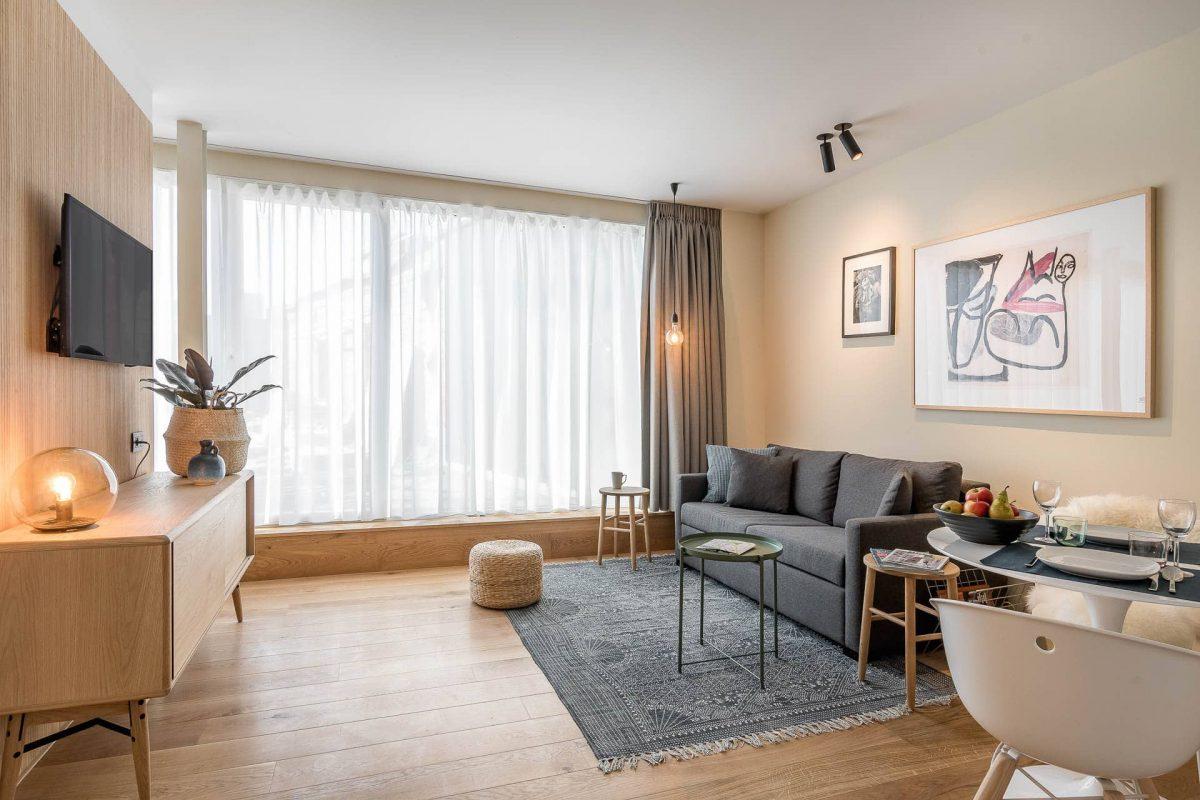 Woonkamer PREMIER SUITES PLUS Antwerpen appartement