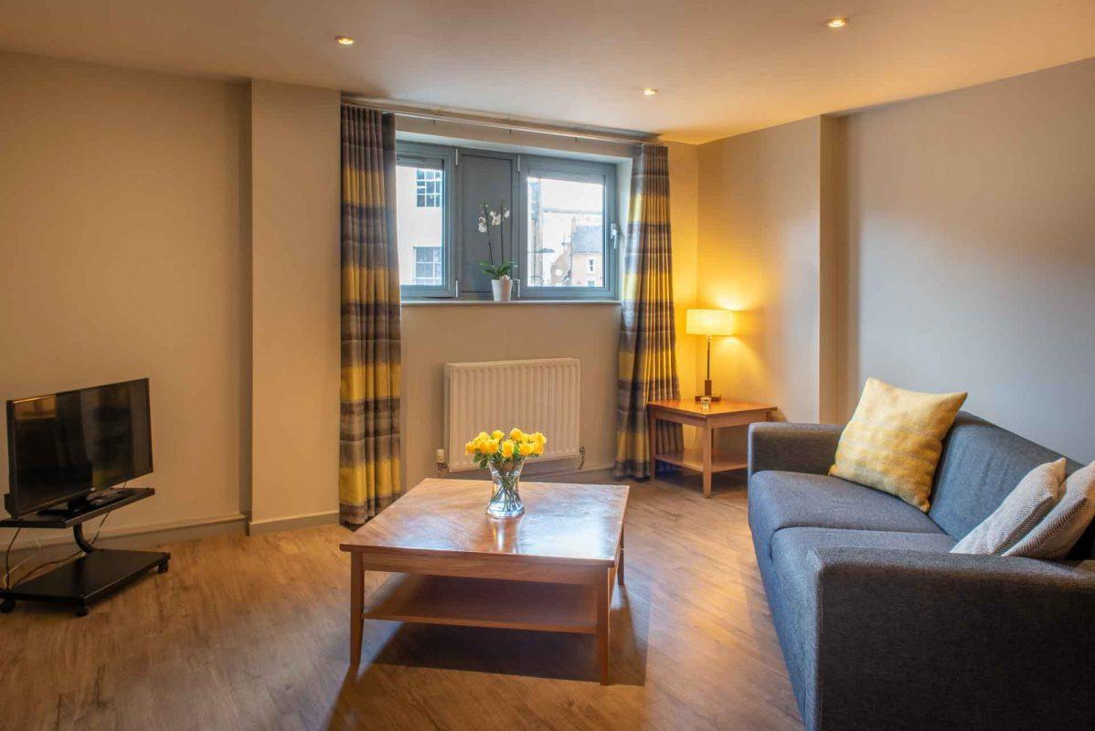 Wohnbereich im Apartment in PREMIER SUITES Newcastle