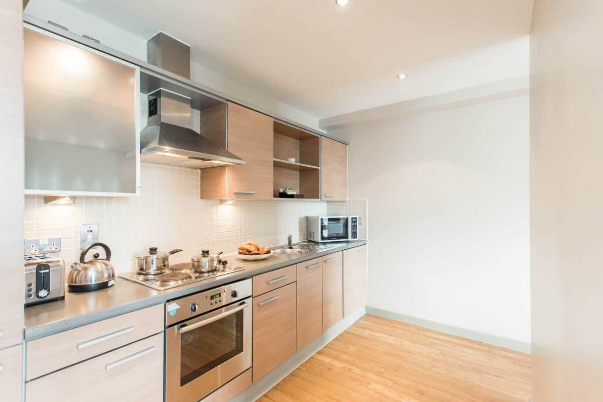 PREMIER SUITES Nottingham grote twee slaapkamer keuken