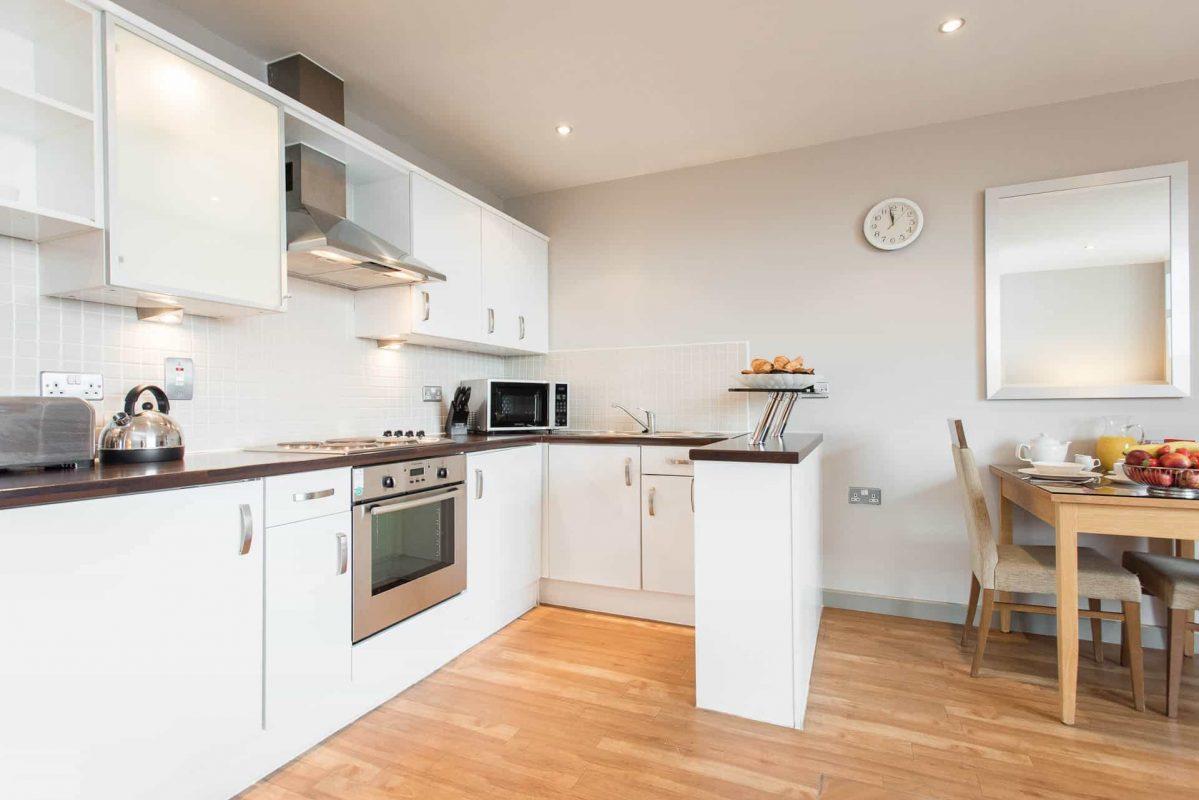 PREMIER SUITES Nottingham een slaapkamer appartement keuken