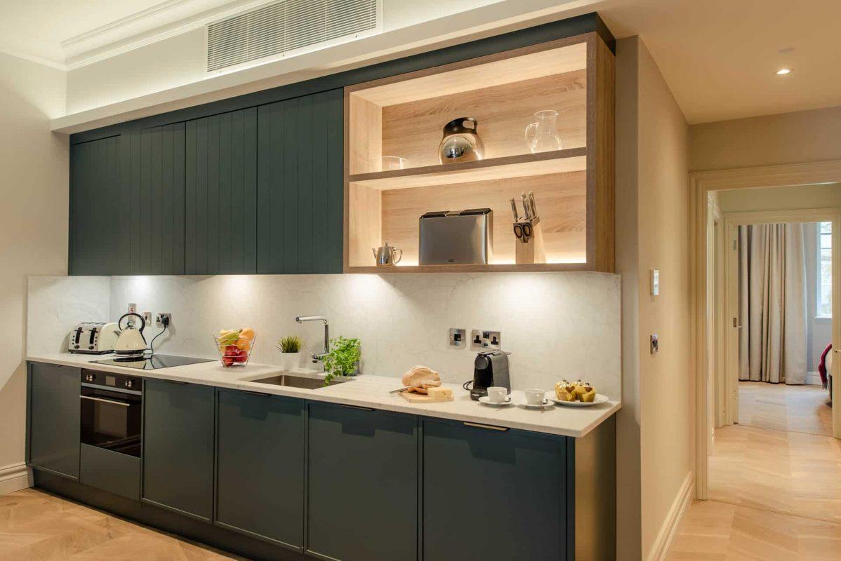 PREMIER SUITES PLUS Dublin Leeson Street modern kitchen with coffee maker