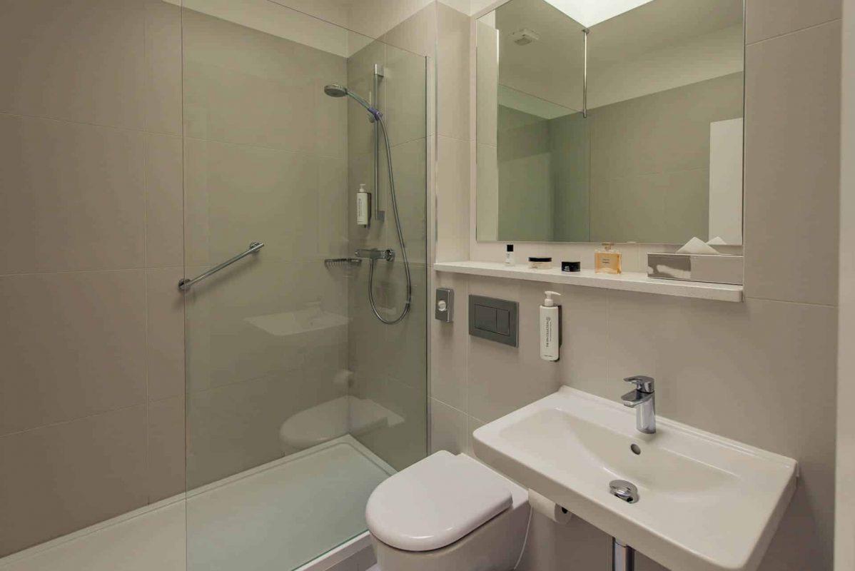 PREMIER SUITES Reading toilet shower bath mirror
